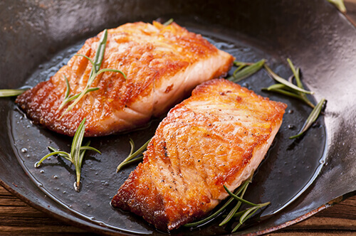 Maple and Orange Salmon, Lachs in Ahorn-Orangensauce